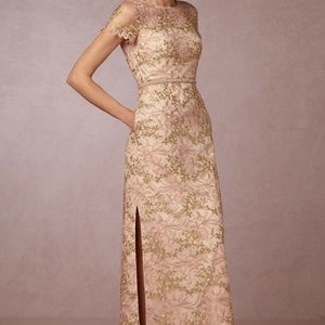NEW ANTHROPOLOGIE BHLDN $450 MINK/ROSE RAYMIE DRES